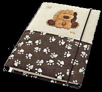 Блокнот в ткани с вышивкой